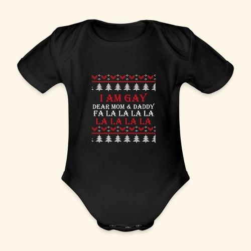 Gay Christmas sweater - Ekologiczne body niemowlęce z krótkim rękawem