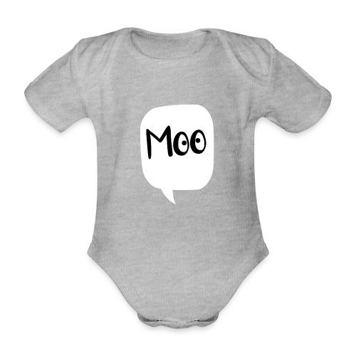bubble moo black design - Organic Short-sleeved Baby Bodysuit
