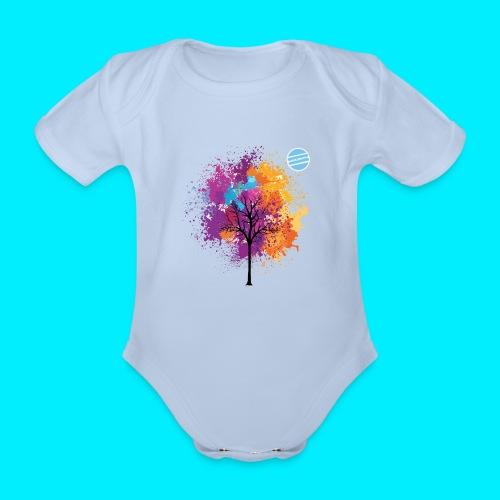 LOGO AUTUNNO BANCOMATTI - Body ecologico per neonato a manica corta