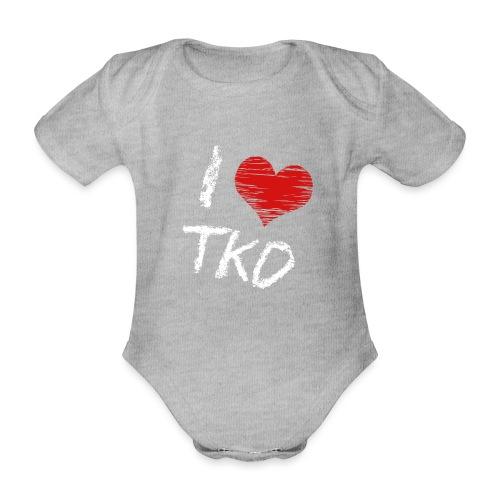 I love tkd letras blancas - Body orgánico de maga corta para bebé