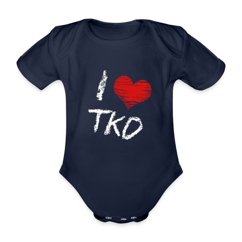 I love tkd letras blancas - Body orgánico de manga corta para bebé