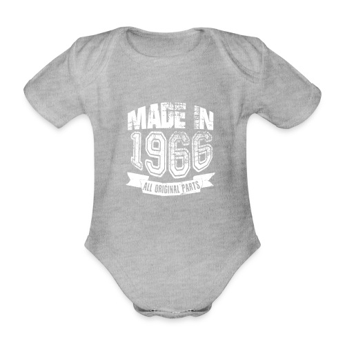Made in 1966 - Body orgánico de maga corta para bebé