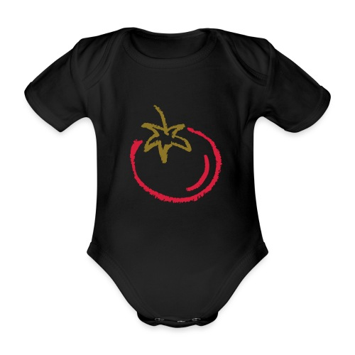 tomato 1000points - Organic Short-sleeved Baby Bodysuit