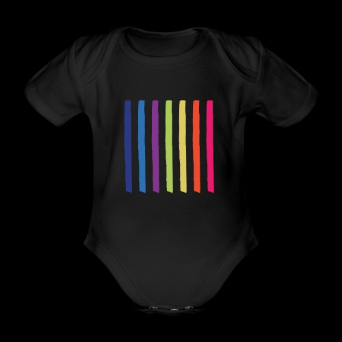 Lines - Organic Short-sleeved Baby Bodysuit