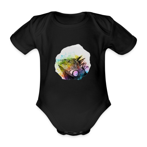 Leguan Aquarell - Baby Bio-Kurzarm-Body