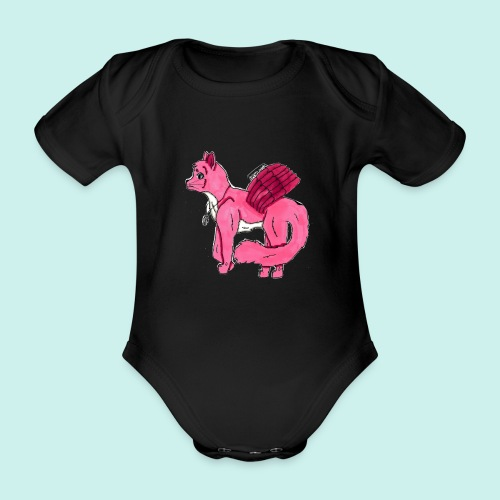 pink_cat_ei_taustaa - Vauvan lyhythihainen luomu-body