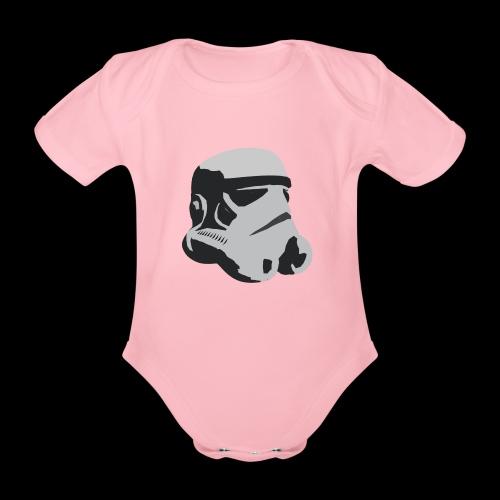 Stormtrooper Helmet - Organic Short-sleeved Baby Bodysuit