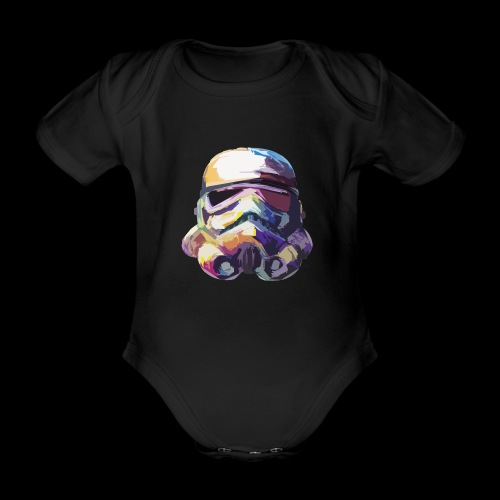 Stormtrooper with Hope - Organic Short-sleeved Baby Bodysuit