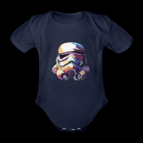 Stormtrooper with Hope - Organic Short-sleeved Baby Bodysuit