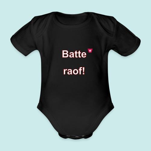 Batteraof vert w - Baby bio-rompertje met korte mouwen