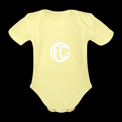 FCG Schriftzug - Baby Bio-Kurzarm-Body