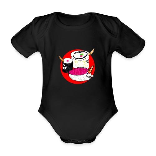 Unicorn Sushi - Organic Short-sleeved Baby Bodysuit