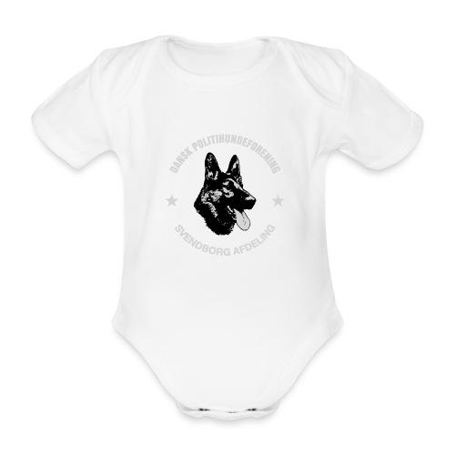 Svendborg PH hvid skrift - Kortærmet babybody, økologisk bomuld