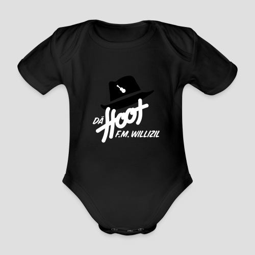 daeHoot_Shirt_Logo1_2c - Baby Bio-Kurzarm-Body