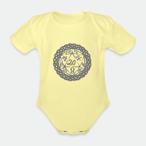 D20 Geschenk Glücksbringer Rollenspiel Würfel - Organic Short-sleeved Baby Bodysuit