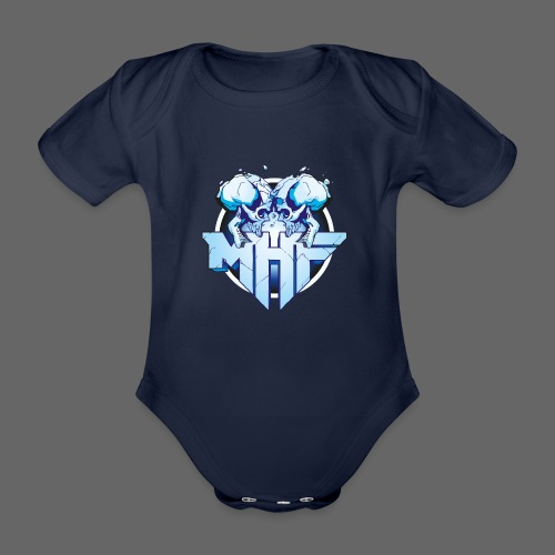 MHF New Logo - Organic Short-sleeved Baby Bodysuit