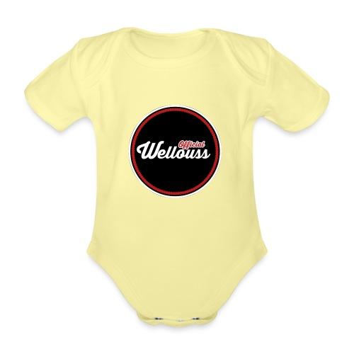 Wellouss Fan T-shirt | Rood - Baby bio-rompertje met korte mouwen