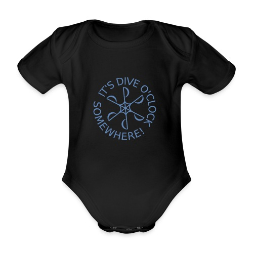 Dive o clock Light Blue - Organic Short-sleeved Baby Bodysuit