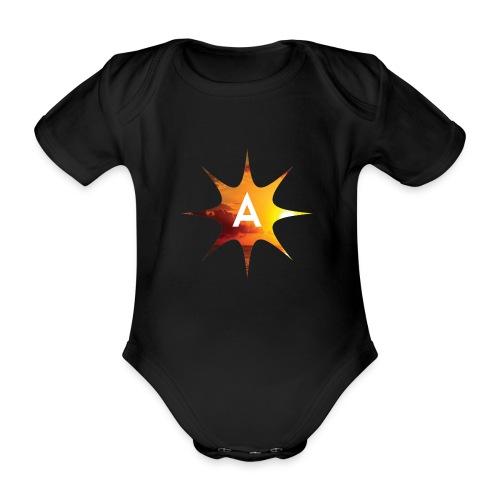 Sunshine Hoodie White - Ekologiczne body niemowlęce z krótkim rękawem
