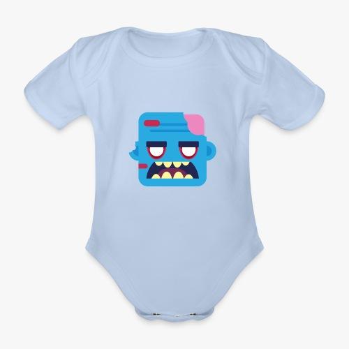 Mini Monsters - Zombob - Kortærmet babybody, økologisk bomuld