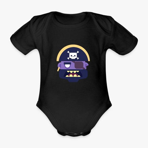 Mini Monsters - Captain Zed - Kortærmet babybody, økologisk bomuld