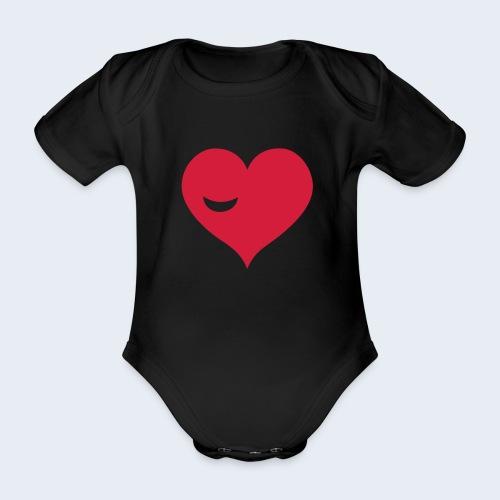 Winky Heart - Baby bio-rompertje met korte mouwen