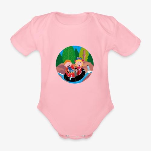 Themepark: Rapids - Baby bio-rompertje met korte mouwen