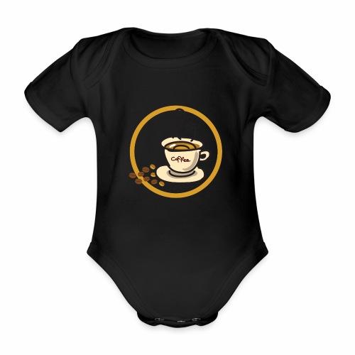 Kaffeeemblem - Baby Bio-Kurzarm-Body