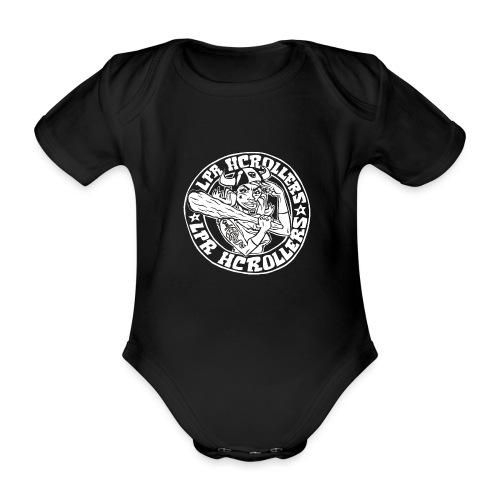 Valkoinen nuijamuija - Vauvan lyhythihainen luomu-body