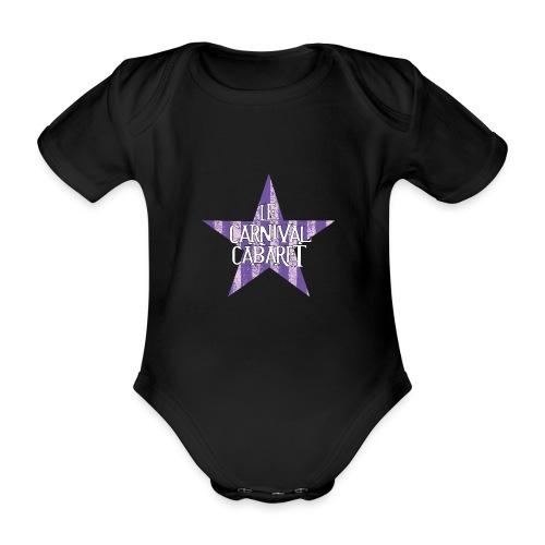 bonnet LCC noir etoie violette - Organic Short-sleeved Baby Bodysuit