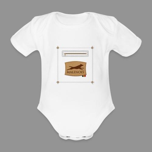 Belgian shepherd Malinois - Organic Short-sleeved Baby Bodysuit
