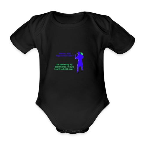 Clyde will be back - Organic Short-sleeved Baby Bodysuit