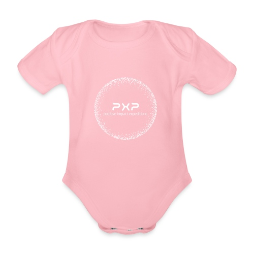 white logo transparent 2x - Organic Short-sleeved Baby Bodysuit