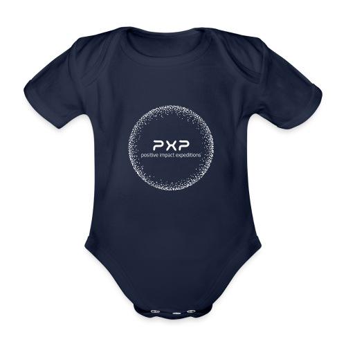 white logo transparent 2x - Organic Short-sleeved Baby Bodysuit