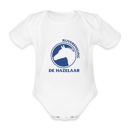 LgHazelaarPantoneReflexBl - Baby bio-rompertje met korte mouwen