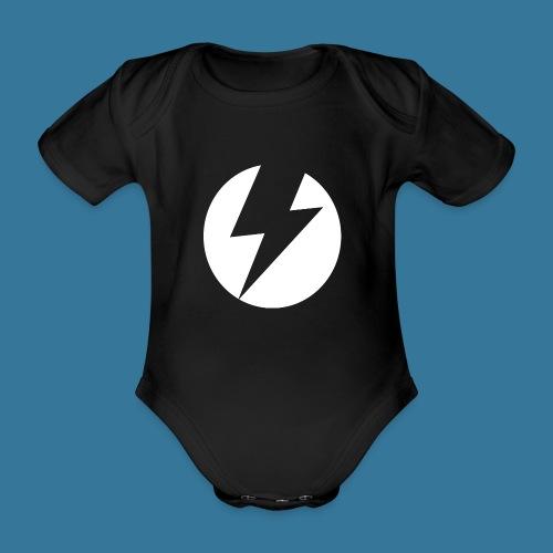 BlueSparks - White - Organic Short-sleeved Baby Bodysuit