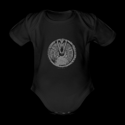 Maschinentelegraph (gray oldstyle) - Organic Short-sleeved Baby Bodysuit