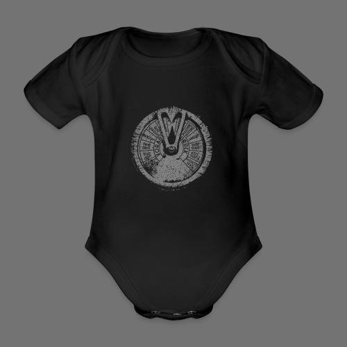 Maschinentelegraph (szary oldstyle) - Ekologiczne body niemowlęce z krótkim rękawem