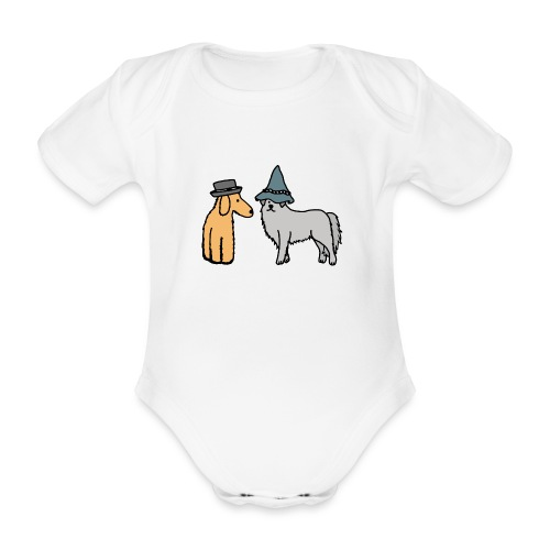 Hütehunde Hunde mit Hut Huetehund - Baby Bio-Kurzarm-Body