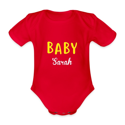 baby sarah black design - Organic Short-sleeved Baby Bodysuit