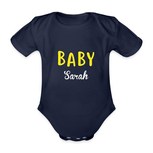 baby sarah black design - Organic Short-sleeved Baby Bodysuit