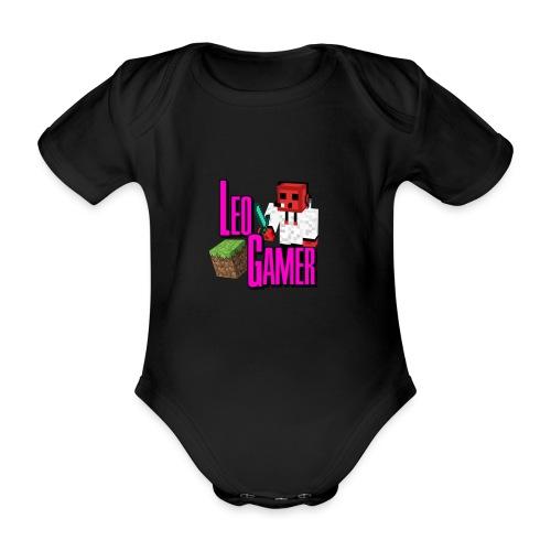 LeoGamer Minecraft - Organic Short-sleeved Baby Bodysuit