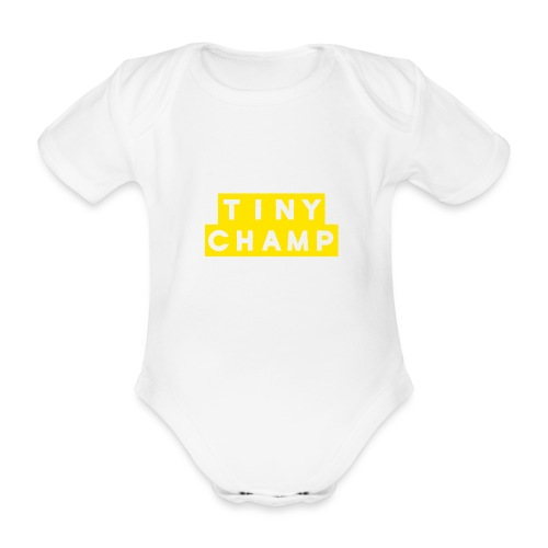 tiny champ blocks design - Organic Short-sleeved Baby Bodysuit