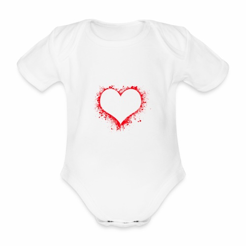 Love you - Baby Bio-Kurzarm-Body