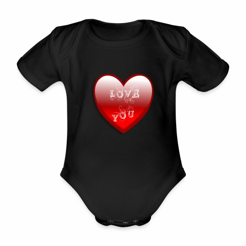 Love You - Baby Bio-Kurzarm-Body