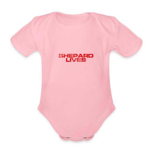 Shepard lives - Organic Short-sleeved Baby Bodysuit
