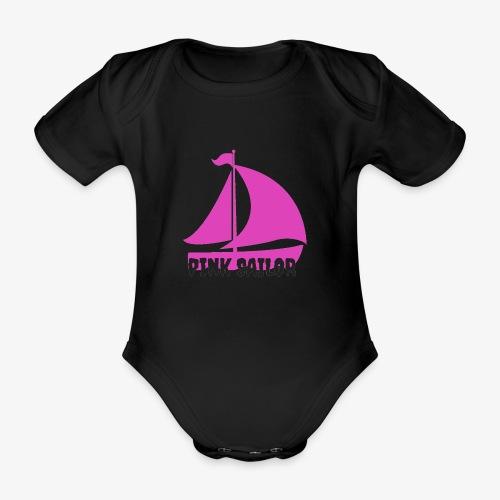 PINK SAILOR - Ekologisk kortärmad babybody