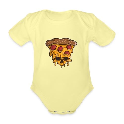 Zombie Halloween Pizza Skull - Baby Bio-Kurzarm-Body