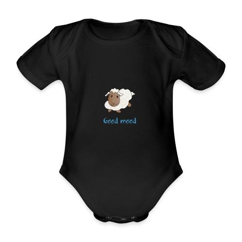 Nadège le petit mouton blanc - Body Bébé bio manches courtes