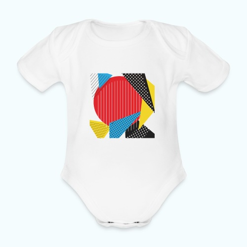 Geometry collage Abstract colors - Organic Short-sleeved Baby Bodysuit